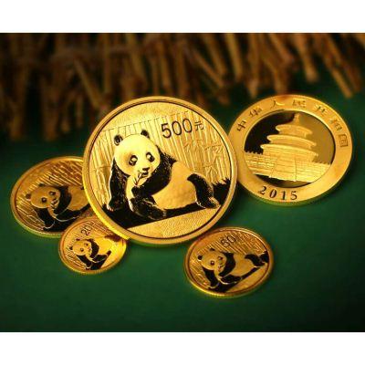 2015版普制熊猫金套币