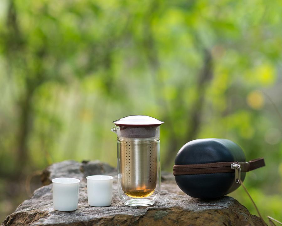 福禄双泉纯银健康茶具