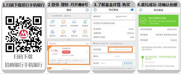 招商银行手机银行理财月开鑫8号火热推出